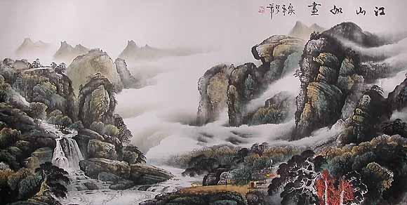 В традиционной китайской живописи